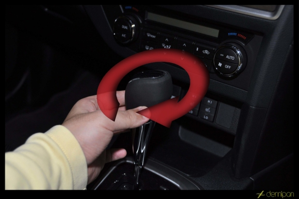 3. Next clockwise the LED shift gear knob into the lever. Tighten put positive and complete install.