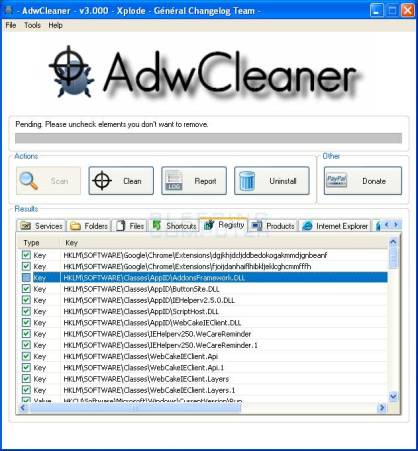 AdwCleaner scan-results